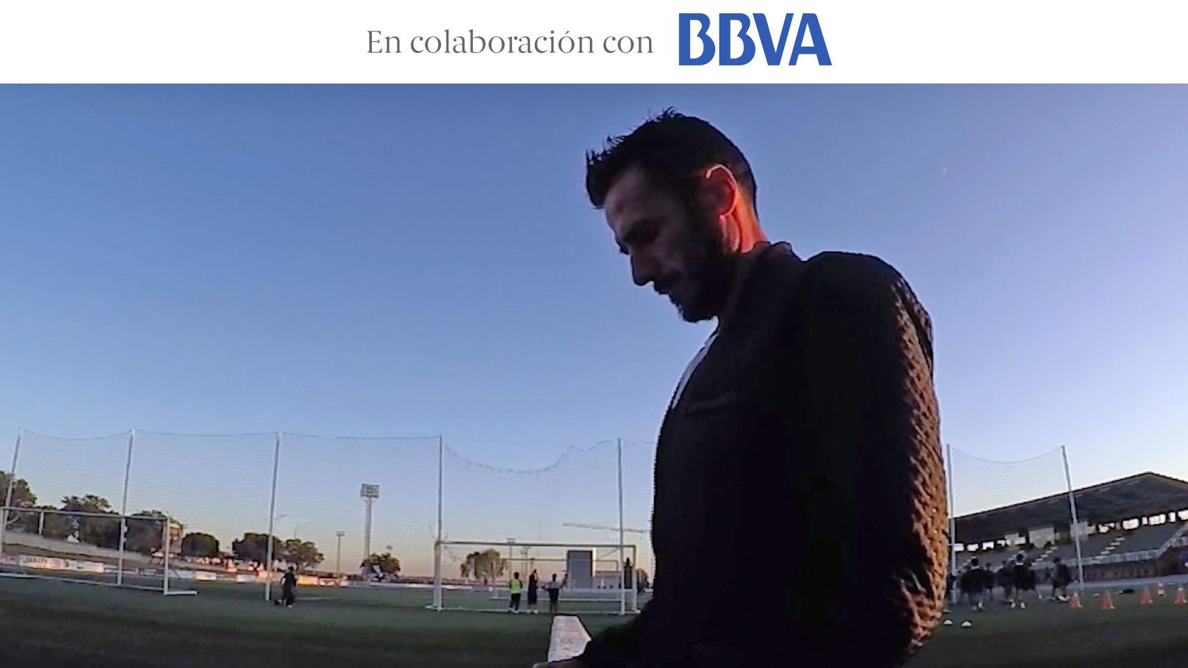 Chema Martínez, durante su entrenamiento en Madrid.