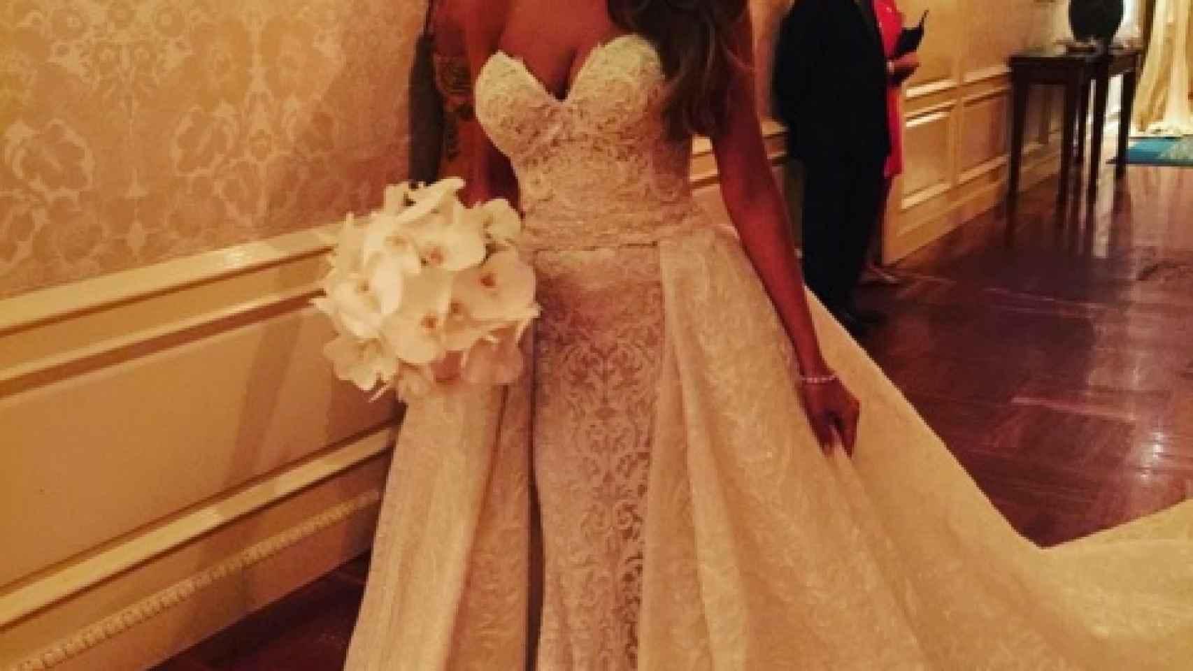 Sofía ha querido compartir su vestido de boda con sus seguidores