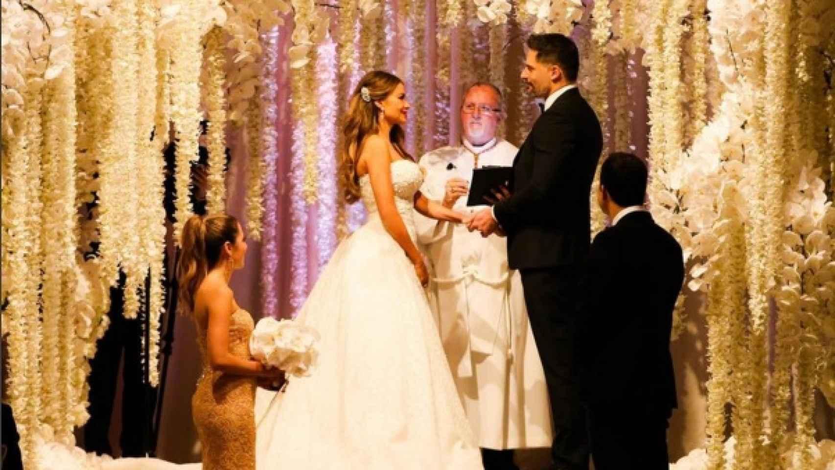 Sofía Vergara y Joe Manganiello durante la ceremonia