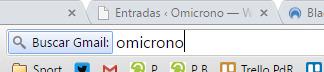 barra chrome gmail