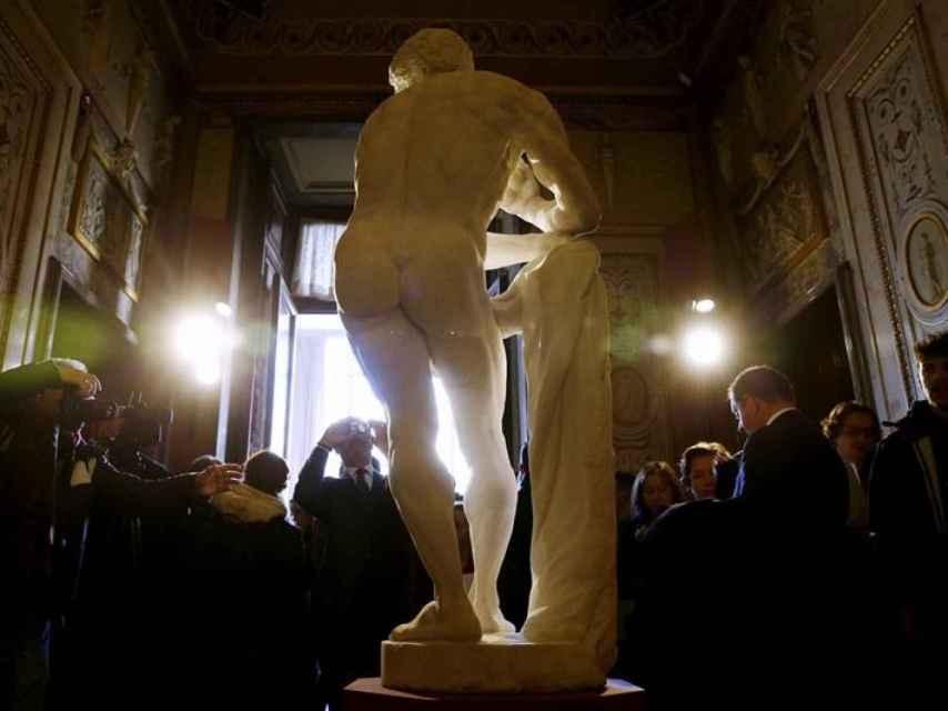 El Hércules instalado en el Gabinete de Estucos.