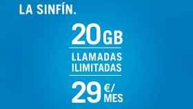 Vuelve la tarifa SinFín de Yoigo: 20GB de datos por 29 euros al mes