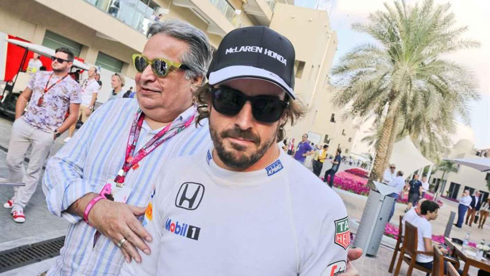Fernando Alonso tras los entrenamientos libres de Abu Dhabi.