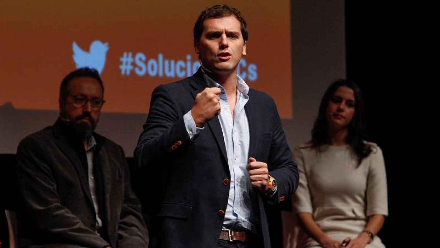 Albert Rivera durante la presentación de su programa electoral en Barcelona.