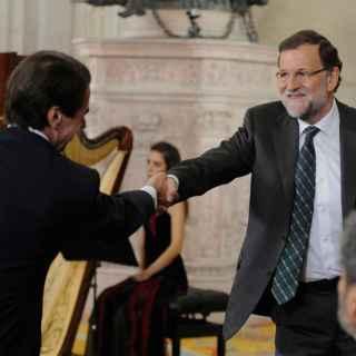 Aznar y Rajoy la última vez que se vieron, este mes de octubre.