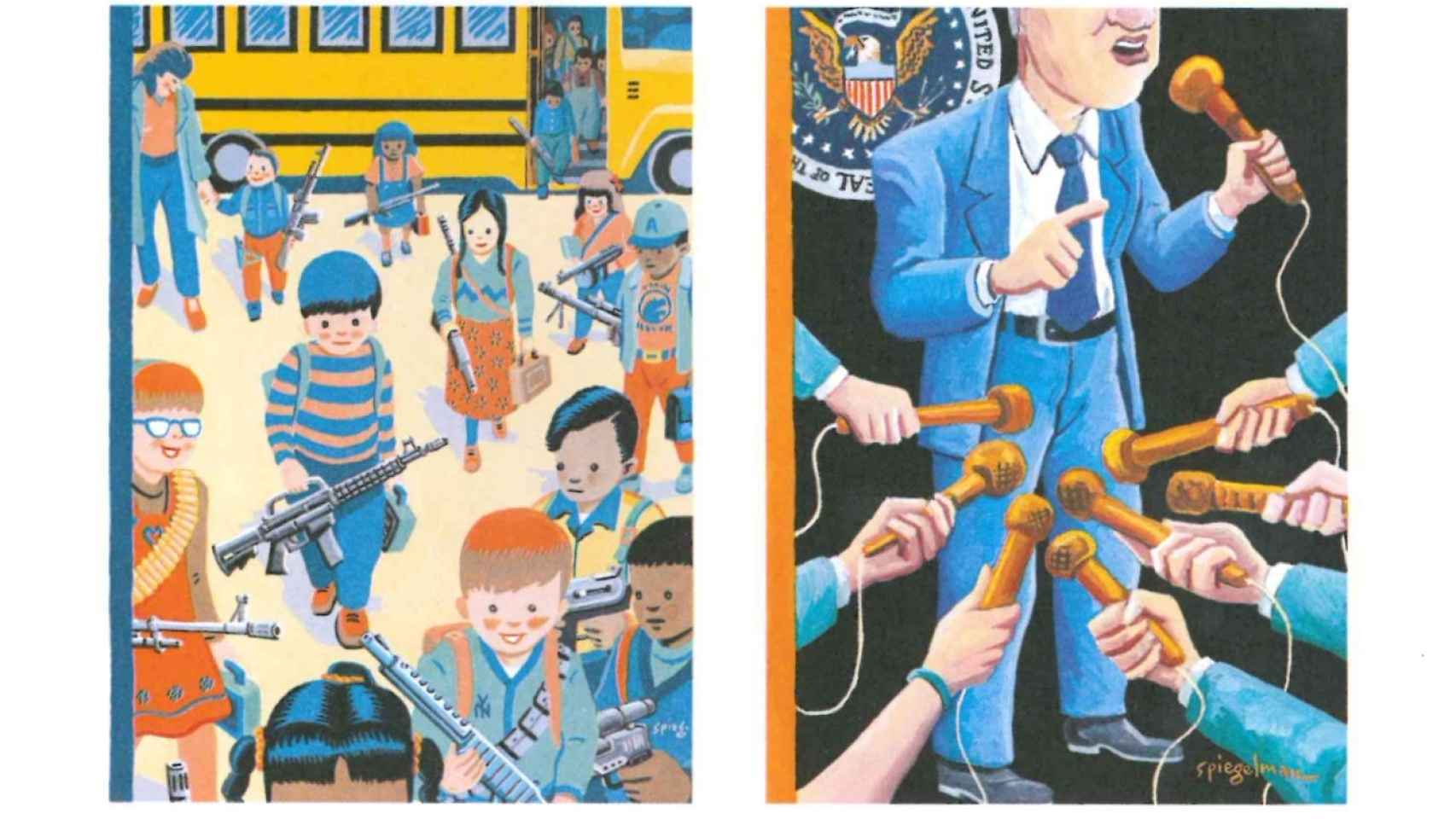 Dos portadas para The New Yorker, de 1993 y 1998 respectivamente