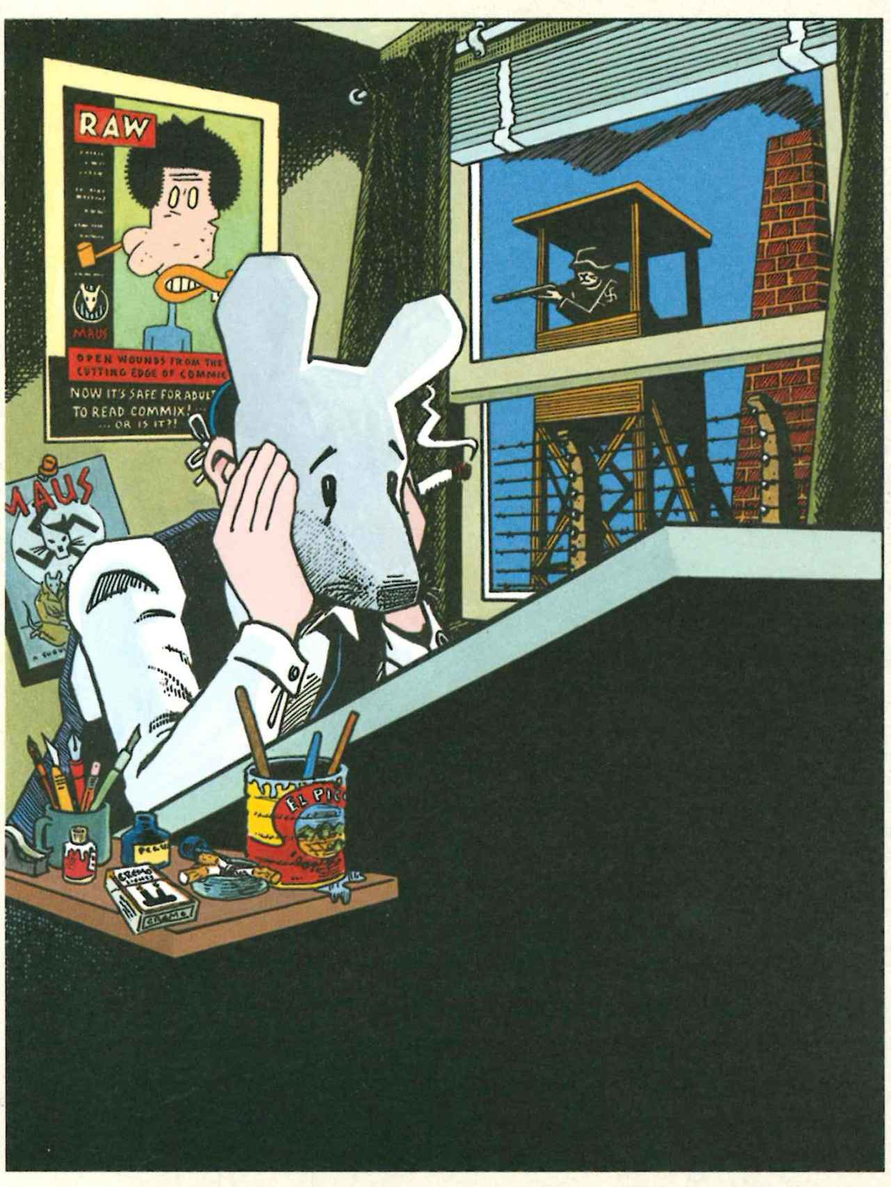 Autorretrato de Spiegelman para Maus