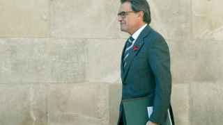 Artur Mas llega a la reunión semanal del Govern.