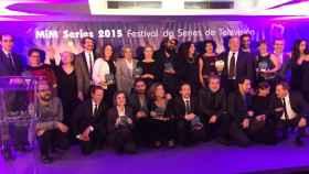 Foto de familia de los premiados (@MIMSeries)