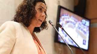 Susana Gaspar, durante el debate de investidura en Aragón.
