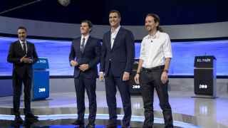 Los tres candidatos debatieron este lunes.