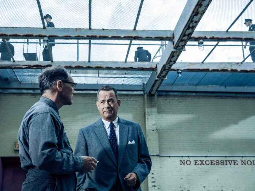 Mark Lyance y Tom Hanks, los protagonistas.
