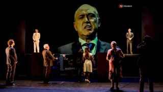 Una escena de Los caciques, producción de Siempre Teatro para el CDN
