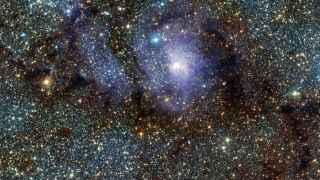 Esta es la Nebulosa de la Laguna M8 (NGC 6523) en infrarrojo.