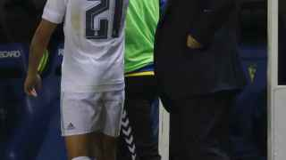 Cheryshev, en el momento de ser sustituido en Cádiz.