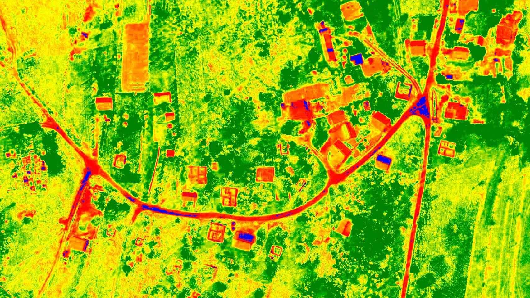 Imágenes de uno de los drones.