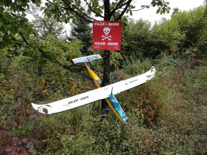 Uno de los drones en Bosnia.