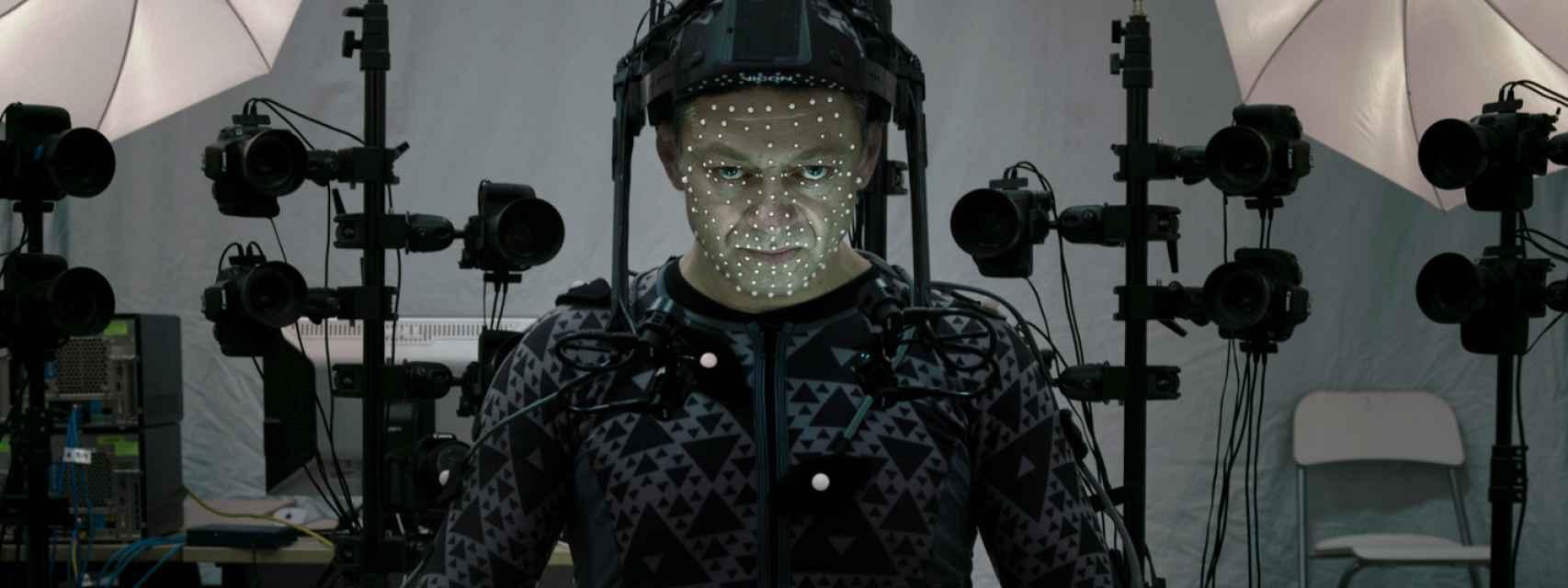 Andy Serkis, en el rodaje de Star Wars: el despertar de la fuerza