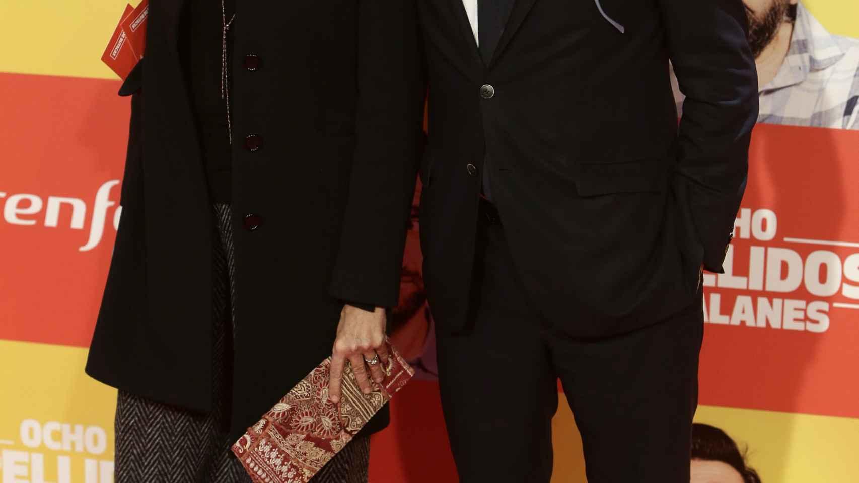 Jorge Moragas y su mujer también aprovecharon el estreno para posar en el photocall