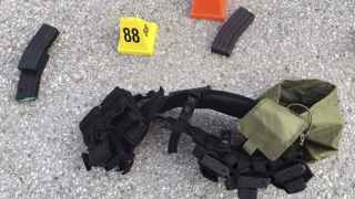 Munición encontrada en el lugar del tiroteo