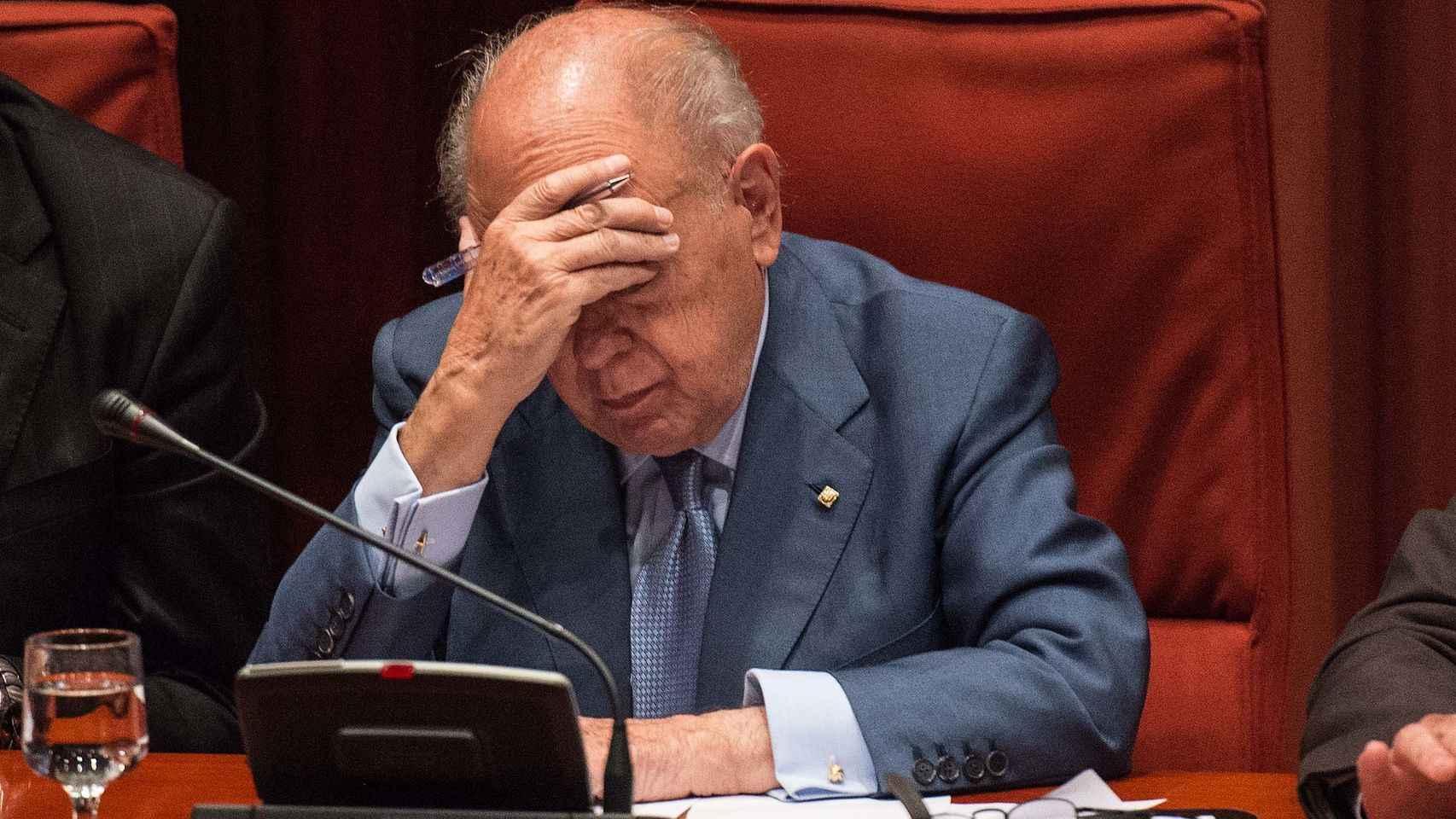 Jordi Pujol, en su comparecencia en el Parlament.