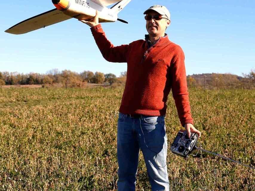 Jordi Santacana con su dron.