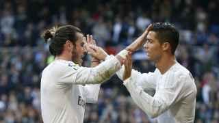 Cristiano y Bale celebran un gol contra el Getafe / Reuters