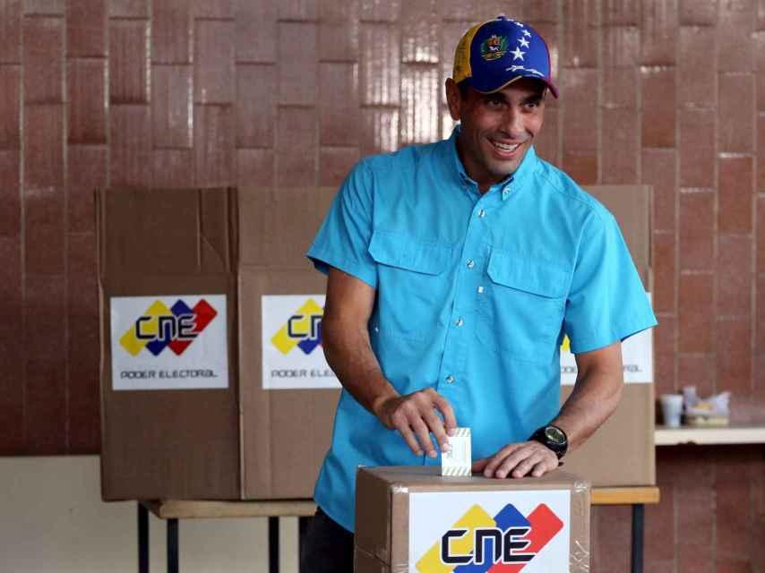 El líder opositor Henrique Capriles quiere que el referendo sea en 2016.