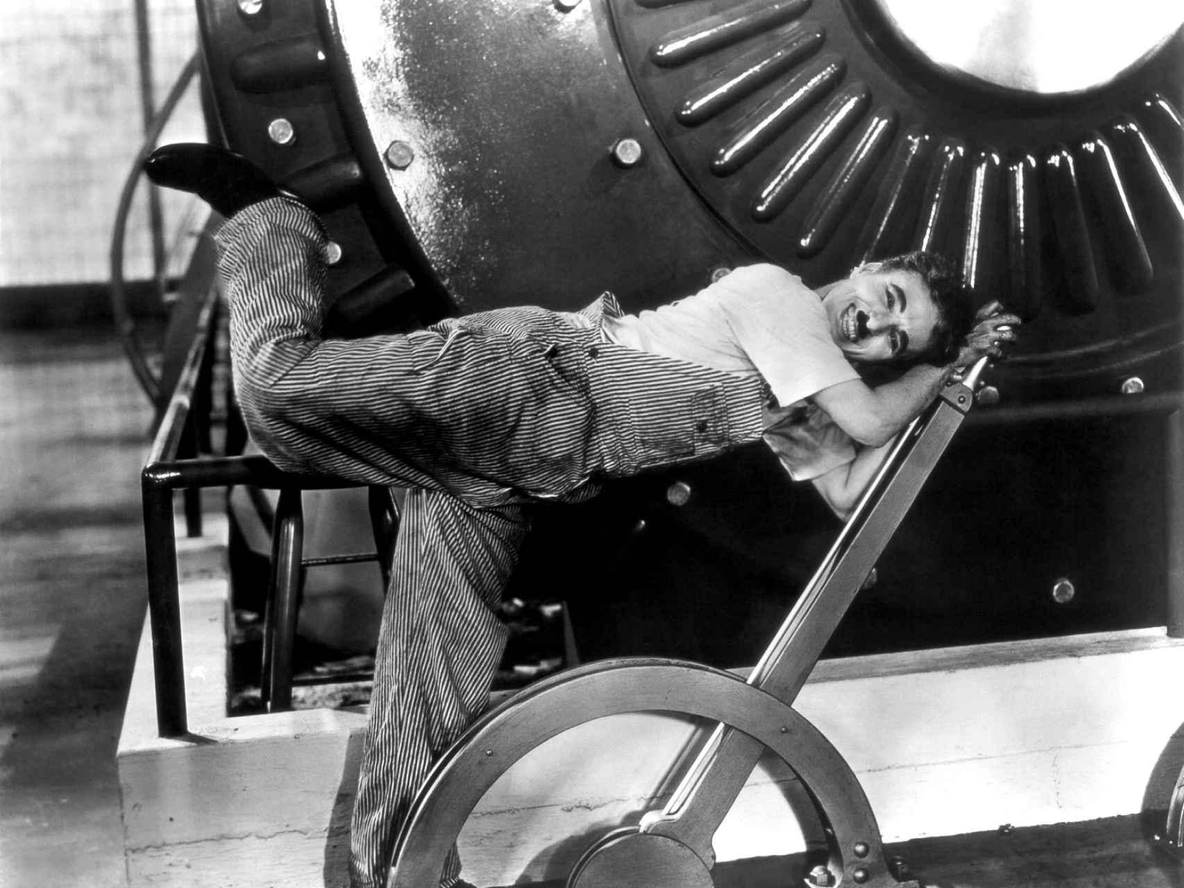 Fotograma de la película 'Tiempos Modernos', de Chaplin.