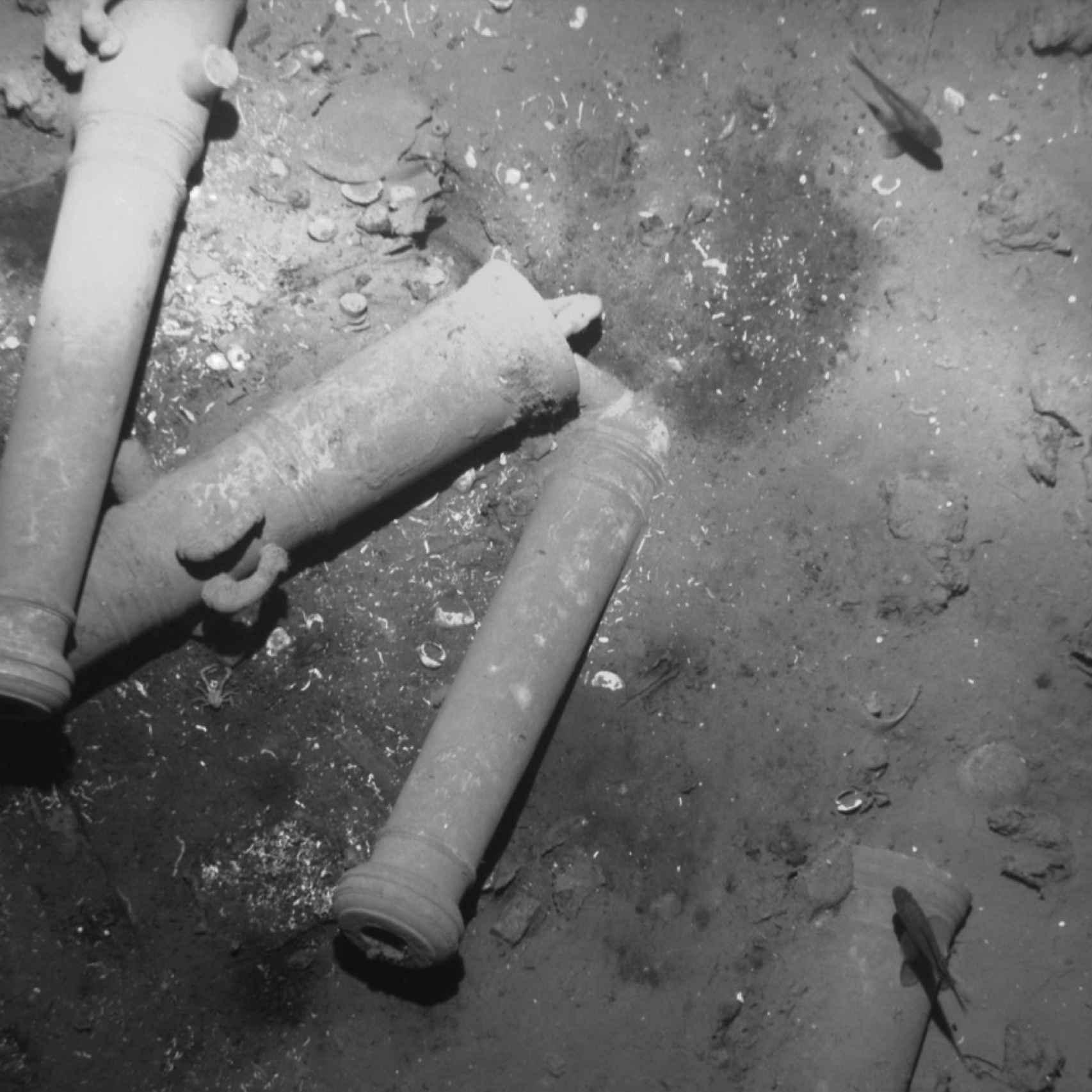 Imagen del yacimiento subacuático del San José.