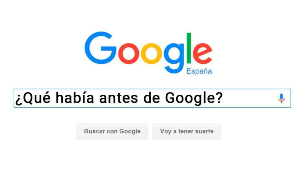 antes de Google