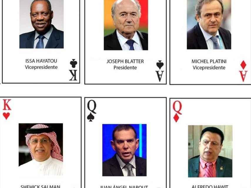 El castillo de naipes con los directivos de la FIFA.