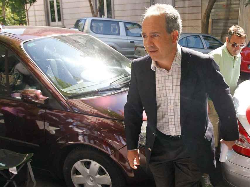 El ex alcalde de Boadilla del Monte Arturo González Panero, a su llegada al TSJM.