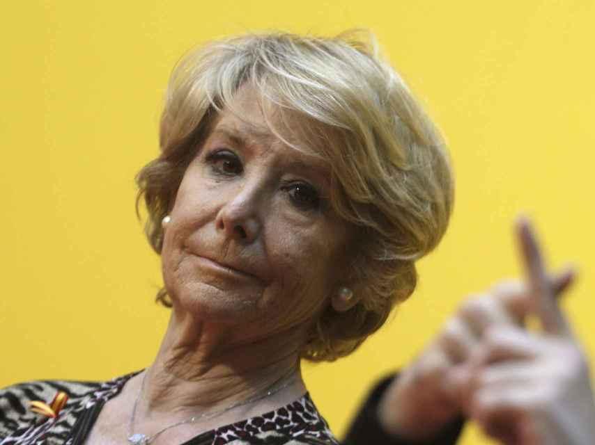La expresidenta del PP de Madrid y de la Comunidad de Madrid, Esperanza Aguirre.