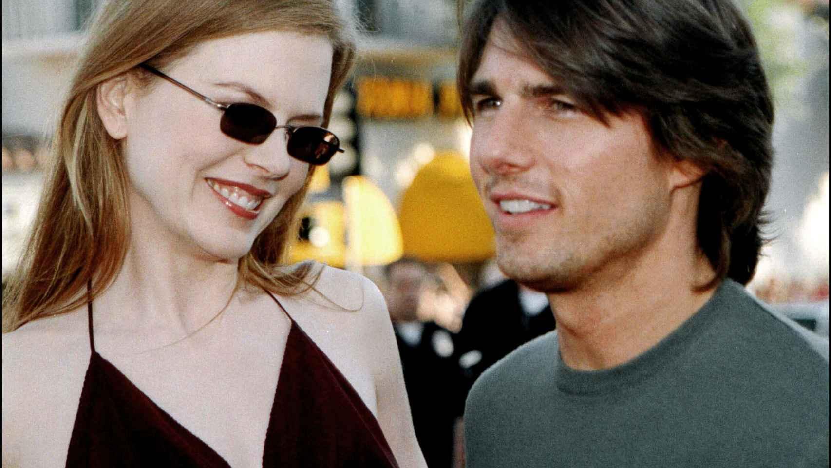 Tom Cruise y Nicole Kidman en la premier de Eyes Wide Shut en Los Ángeles en 2001