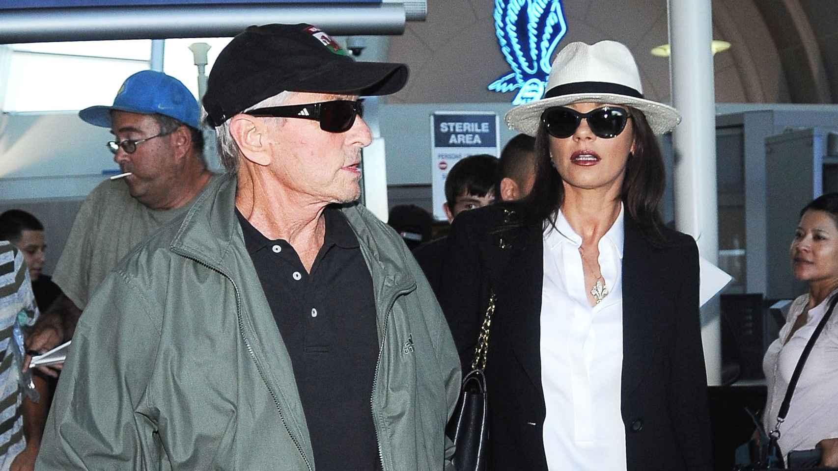 Douglas y Zeta-Jones en Los Ángeles en agosto de 2015.