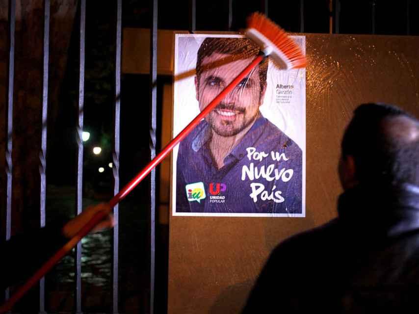 Uno de los carteles de Garzón.