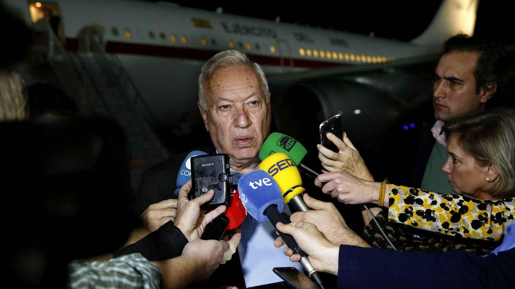 Margallo, a su llegada a Cartagena de Indias.