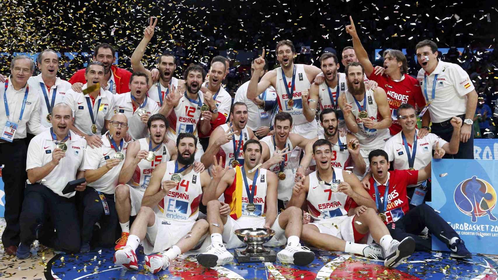 La selección masculina de baloncesto fue campeona en el pasado EuroBasket.