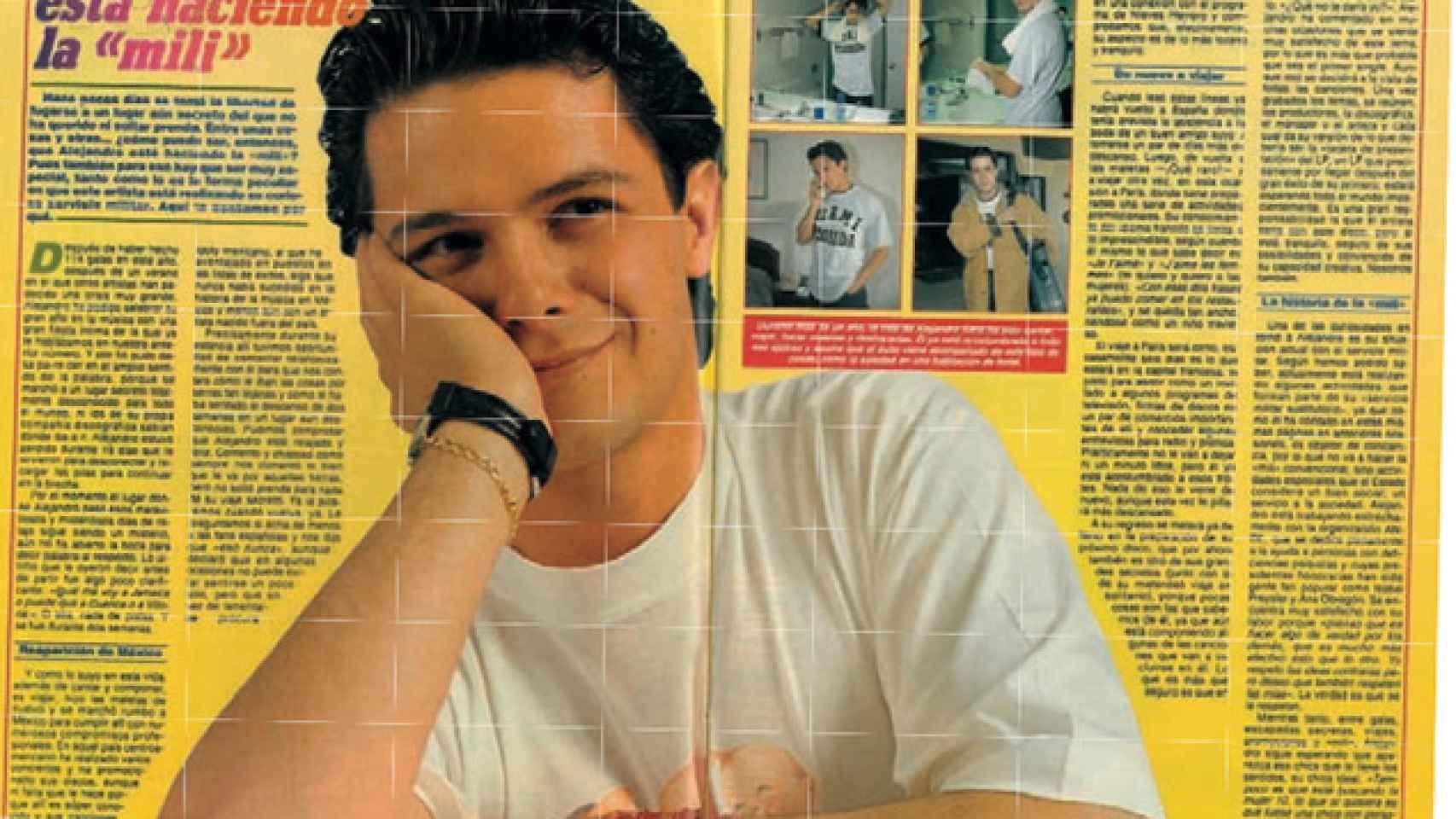 Los comienzos musicales de Alejandro Sanz estuvieron ligados a la revista
