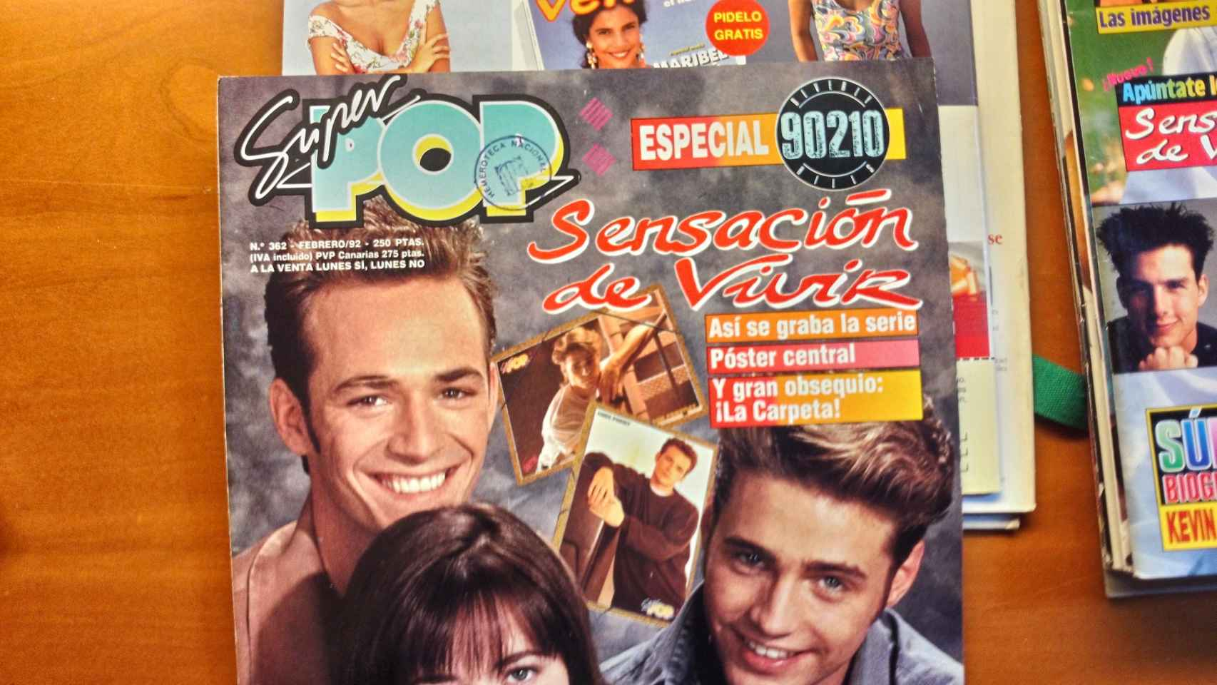 Las series de televisión también tuvieron su protagonismo en la publicación juvenil