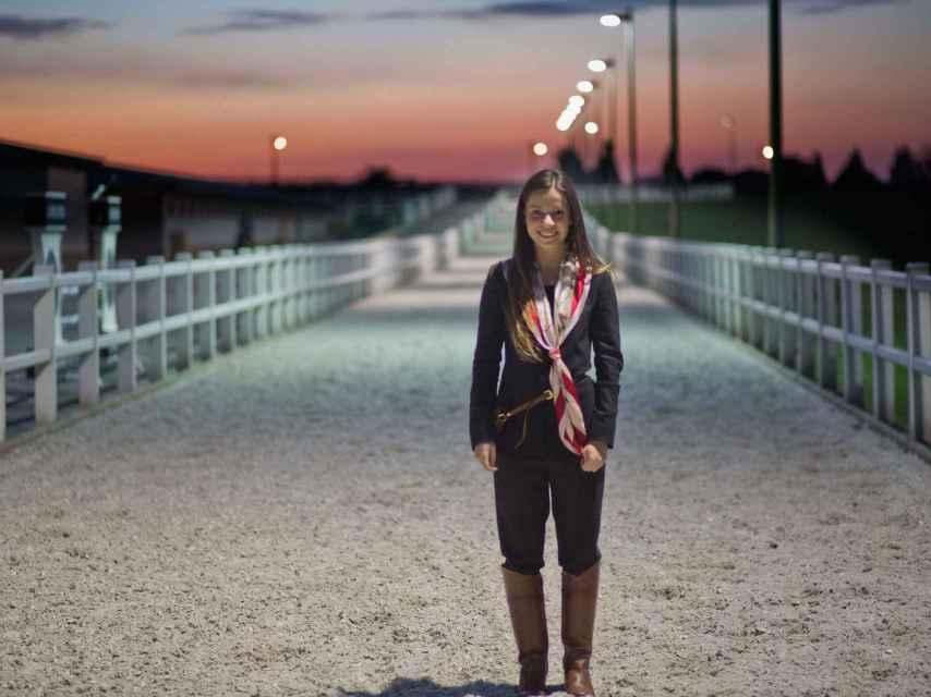 Lucía, es su primer año como azafata del concurso de Casas Novas.