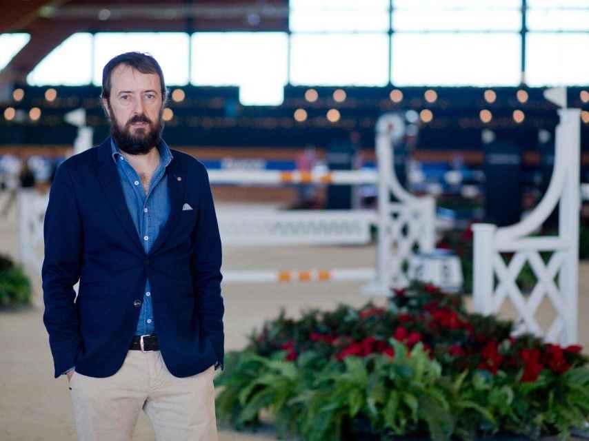 Pablo es el director de la competición hípica en el centro de Casas Novas.