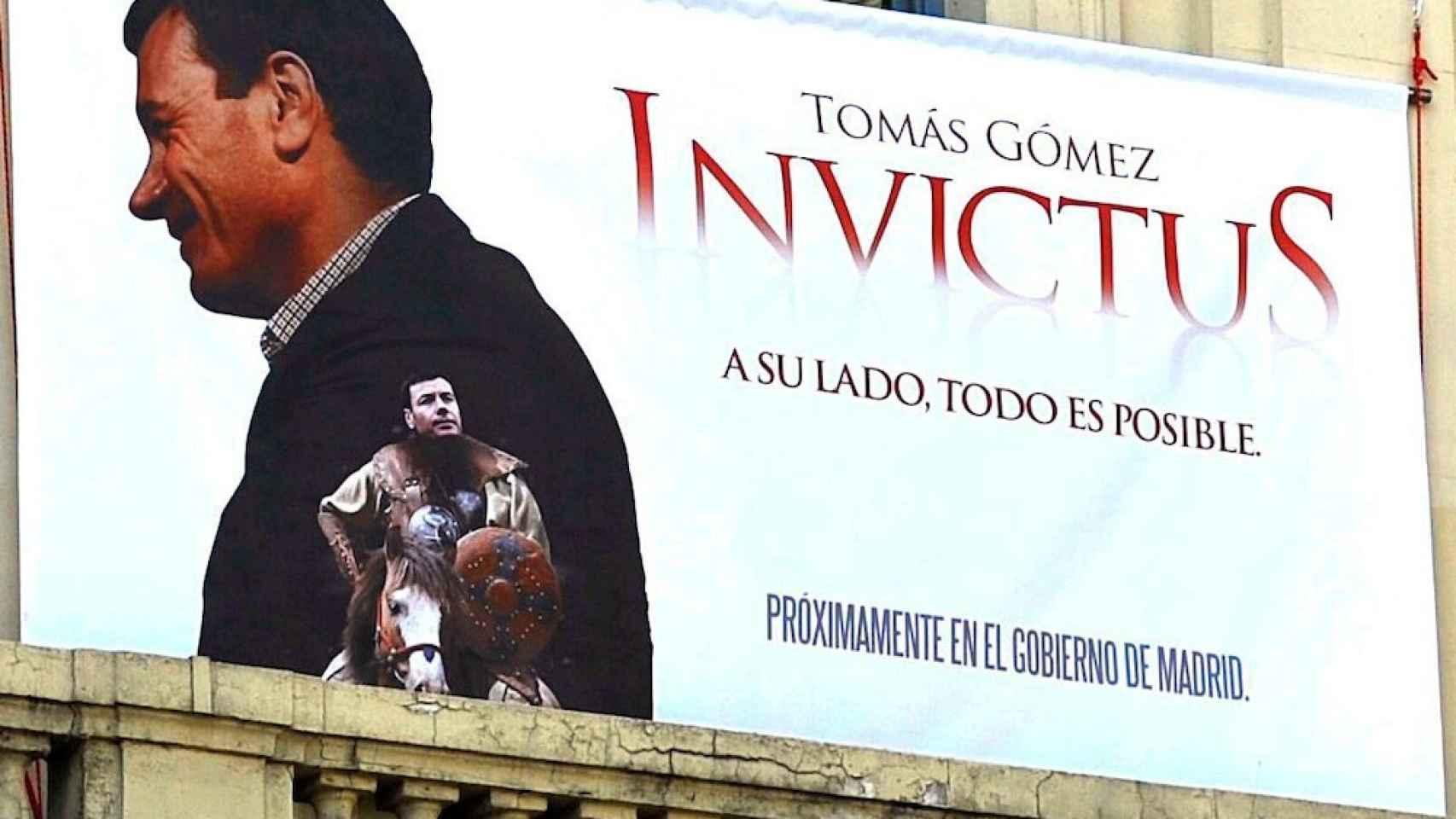 El cartel que colgó la sede del PSM en 2011.