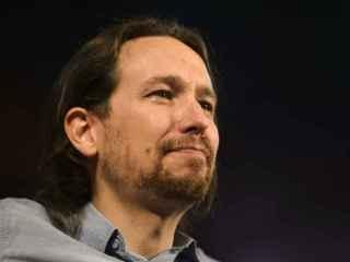 Pablo Iglesias en el acto de Podemos en la Caja Mágica