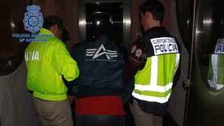 El guerrillero de las FARC detenido por la Policía.