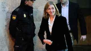 La infanta Cristina, tras declarar el 8 de febrero de 2014.