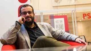 Ibán García del Blanco en la sede de los socialistas.