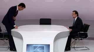 Sánchez y Rajoy, antes de empezar el debate