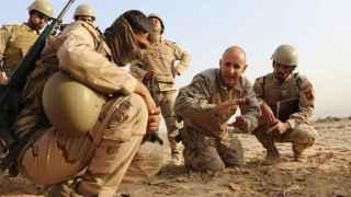 Efectivos de la BRIPAC adiestrando al Ejército iraquí.